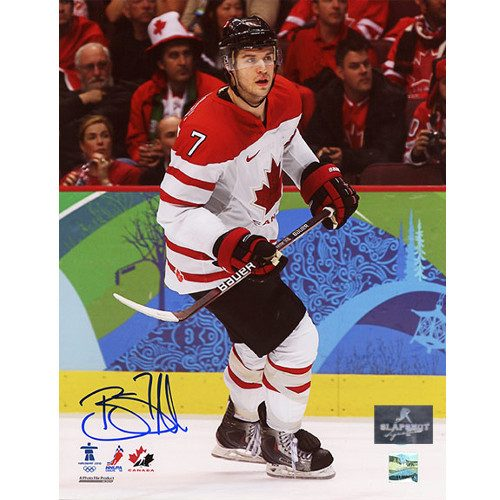 Brent Seabrook Olympic Team Canada 2010 Signed 8x10 Photo