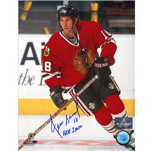 Denis Savard Signed Photo Chicago Blackhawks 8X10