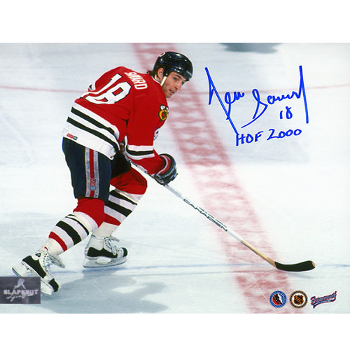 Denis Savard Autographed Picture Chicago Blackhawks Action 8X10