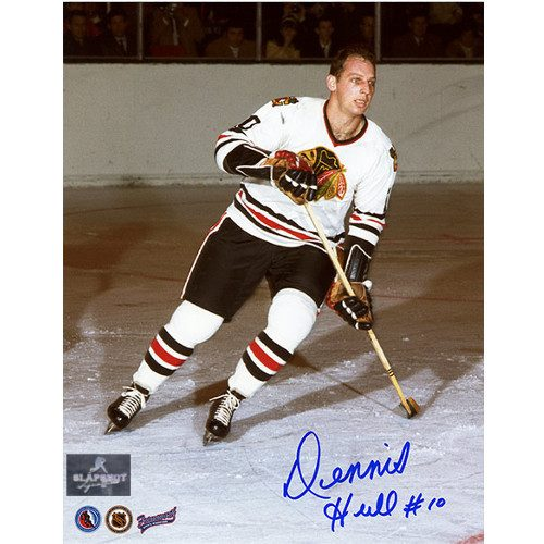 Dennis Hull Autograph Photo-Chicago Blackhawks 8x10