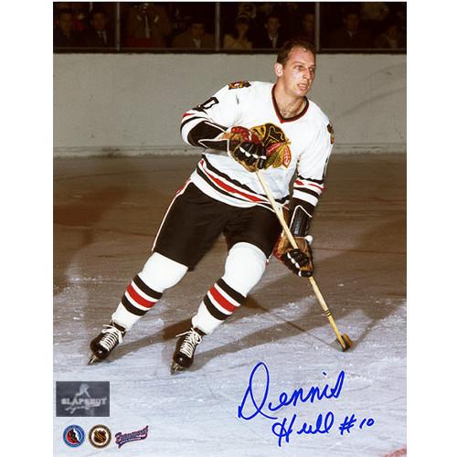 Dennis Hull Autograph Photo-Chicago Blackhawks 8x10