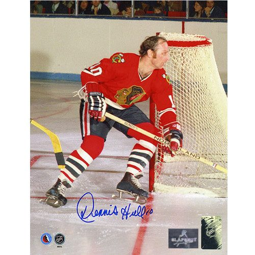 Dennis Hull Chicago Blackhawks Signed 8x10 Photo