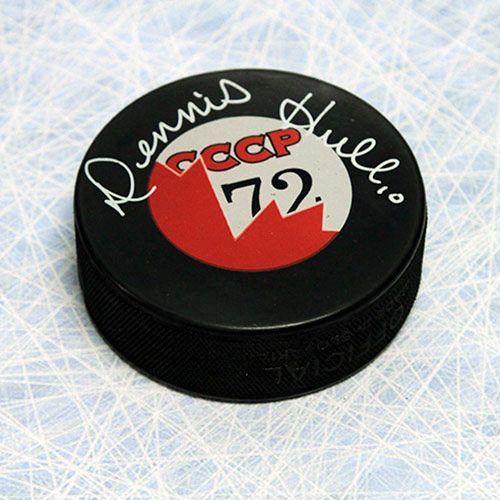 Dennis Hull Summit Series Signed Puck