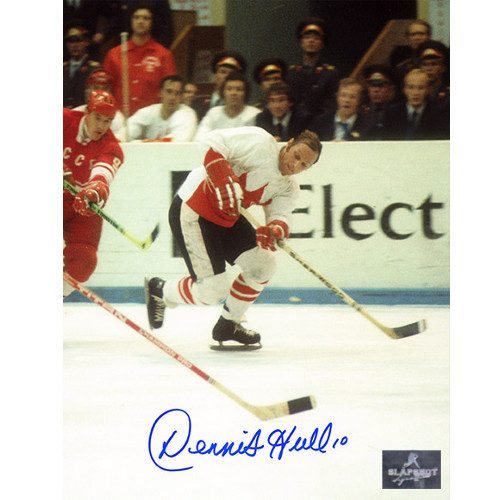 Dennis Hull 1972 Summit Series Signed 8x10 Photo