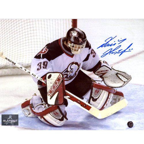 Dominik Hasek Buffalo Sabres Autographed 8X10 Crease Photo