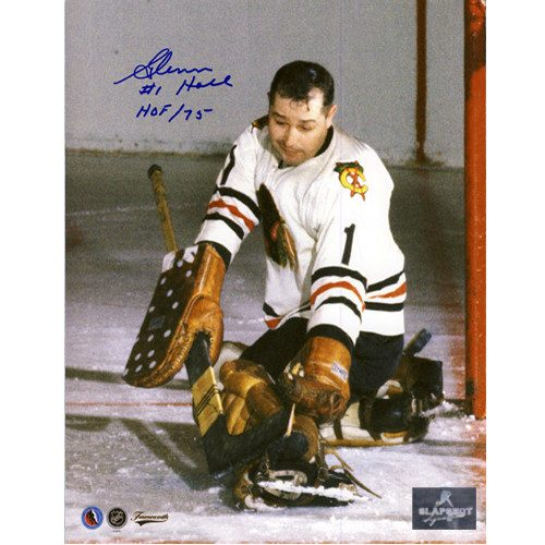 Glenn Hall Signed Picture Chicago Blackhawks Goalie 8X10