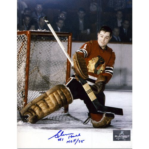 Glenn Hall Signed Picture Chicago Blackhawks 8X10