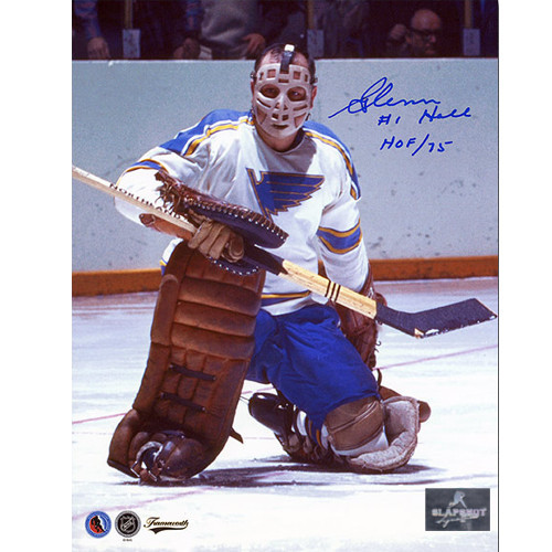 Glenn Hall St Louis Blues Signed Picture 8X10