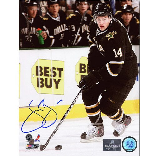 Jamie Benn Dallas Stars Signed Game Action 8X10 Photo