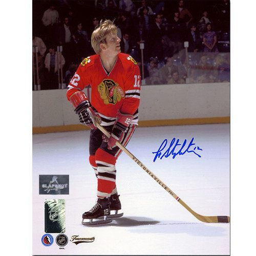 Pat Stapleton Autograph Photo-Chicago Blackhawks 8x10
