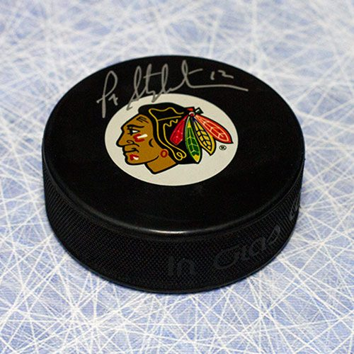 Pat Stapleton Puck Autographed Chicago Blackhawks