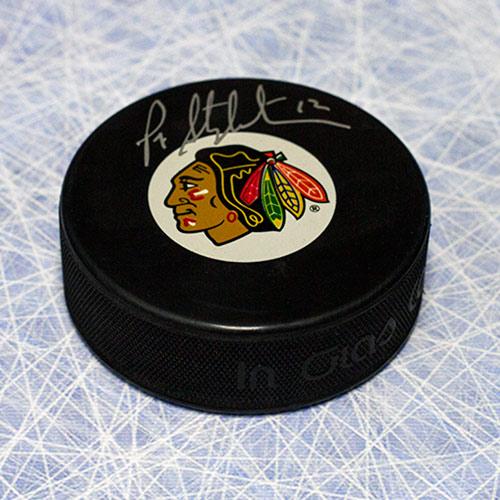 Pat Stapleton Puck Autographed Chicago Blackhawks