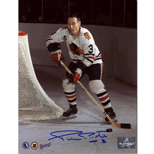 Pierre Pilote Chicago Blackhawks Autographed 8X10 Captain Photo