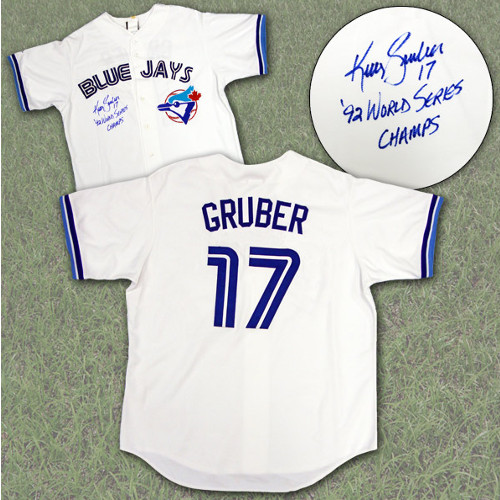 Kelly Gruber Jersey-Signed Toronto Blue Jays World Series
