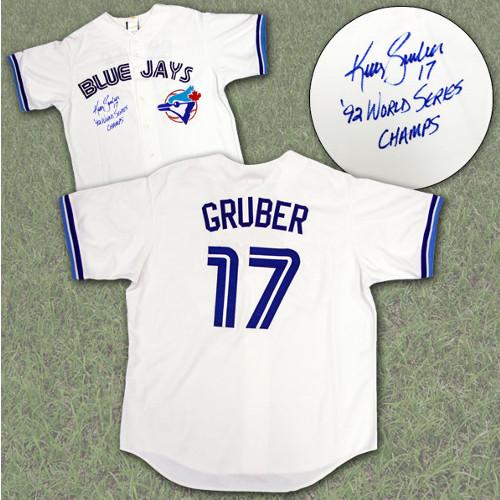 Kelly Gruber Jersey-Signed Toronto Blue Jays World Series