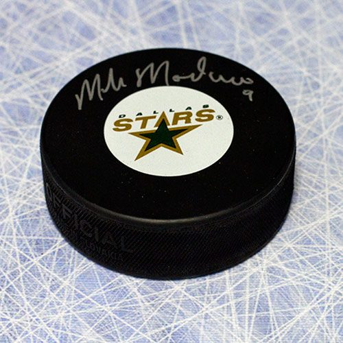 Mike Modano Signed Puck Dallas Stars