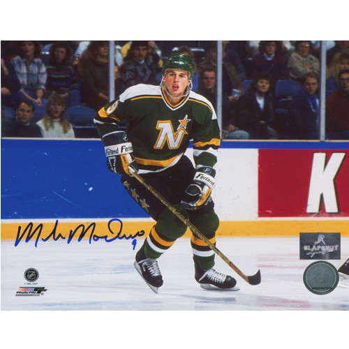 Mike Modano Minnesota North Stars Autographed 8X10 Action Photo
