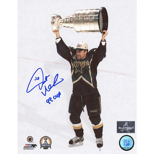 Pat Verbeek Stanley Cup Dallas Stars Signed 8x10 Photo