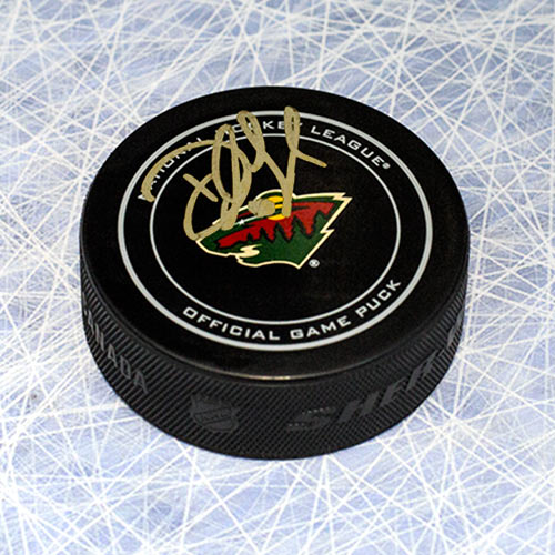 Devan Dubnyk Minnesota Wild Signed Official Game Puck