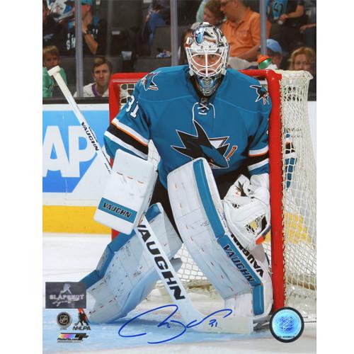 Martin Jones San Jose Sharks Autographed 8X10 Goalie Photo