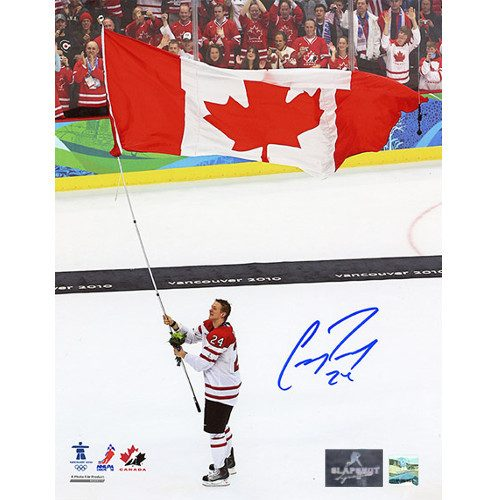 Corey Perry Olympics Team Canada Signed 8x10 Photo