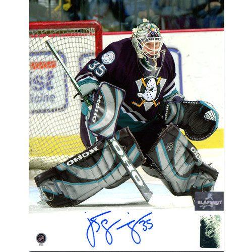 Jean Sebastien Giguere Anaheim Mighty Ducks Signed 8x10 Photo
