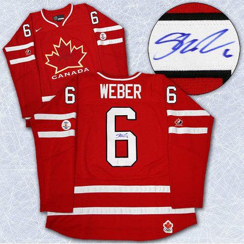 Shea Weber Team Canada Jersey-Autographed 2010 Olympics
