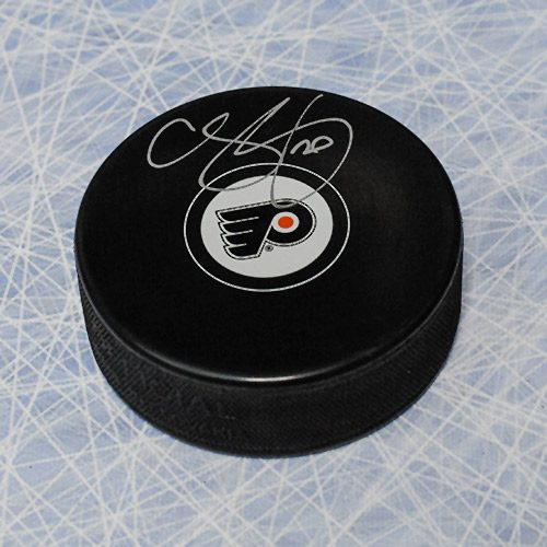 Chris Pronger Autographed Puck-Philadelphia Flyers