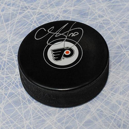 Chris Pronger Autographed Puck-Philadelphia Flyers