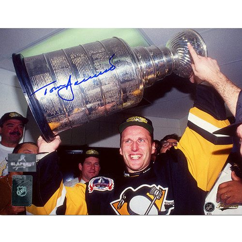 Tom Barrasso Pittsburgh Penguins Signed 8X10 Cup Photo