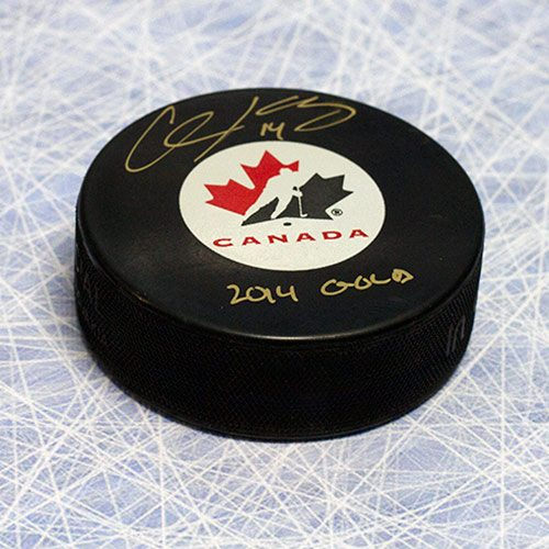 Chris Kunitz Olympics Team Canada Signed Puck 2014 Gold