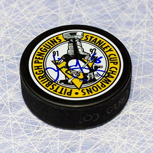 Jaromir Jagr Stanley Cup Penguins Signed Hockey Puck