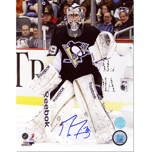 Marc Andre Fleury Goalie Signed Pittsburgh Penguins 8X10