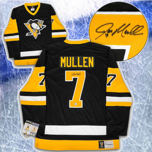 Joe Mullen Pittsburgh Penguins Autographed Fanatics Vintage Hockey Jersey