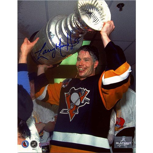 Larry Murphy Pittsburgh Penguins Signed 8X10 Stanley Cup Photo