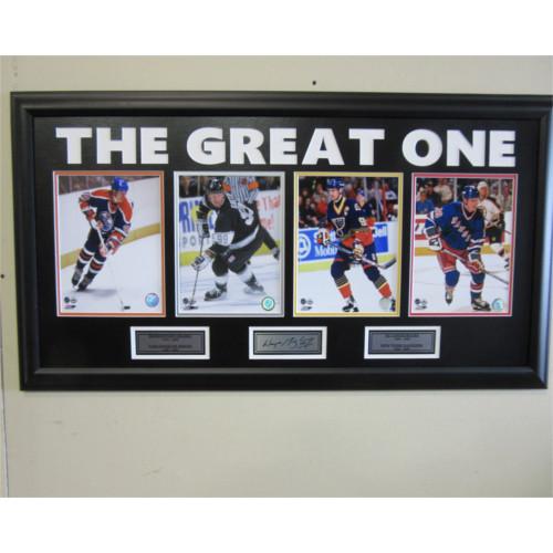 Wayne Gretzky Edmonton Oilers Unsigned Career Collage Framed Photo