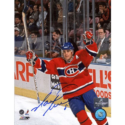 Mark Recchi Montreal Canadiens Goal Celebration Signed 8x10 Photo