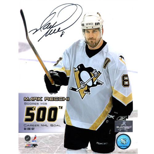 Mark Recchi 500th Goal Pittsburgh Penguins Signed 8x10 Photo