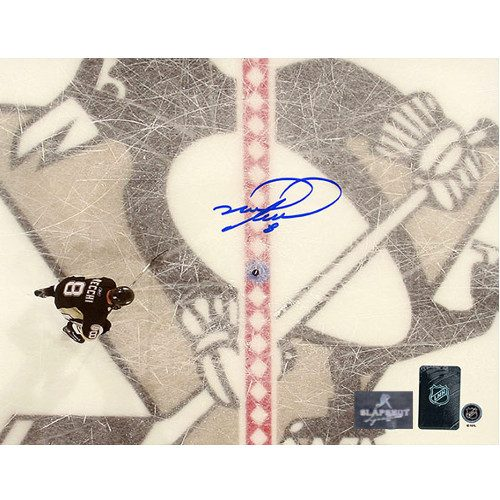 Mark Recchi Pittsburgh Penguins Overhead Signed 8x10 Photo
