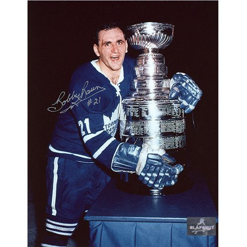 Bobby Baun Toronto Maple Leafs Autographed Stanley Cup 8x10 Photo