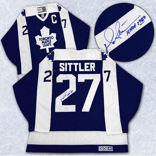 Darryl Sittler Signed Jersey Toronto Maple Leafs Retro CCM