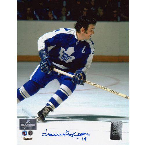 Dave Keon Signed Photo Toronto Maple Leafs Hockey Action 8x10