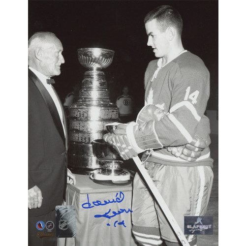 Dave Keon Signed Photo Toronto Maple Leafs Black & White Stanley Cup 8x10