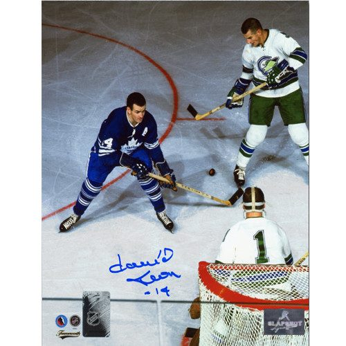 Dave Keon Autographed Photo Toronto Maple Leafs Overhead vs Seals 8x10