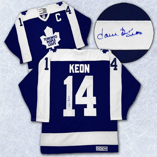 Dave Keon Toronto Maple Leafs Autographed Captain Retro CCM Hockey Jersey