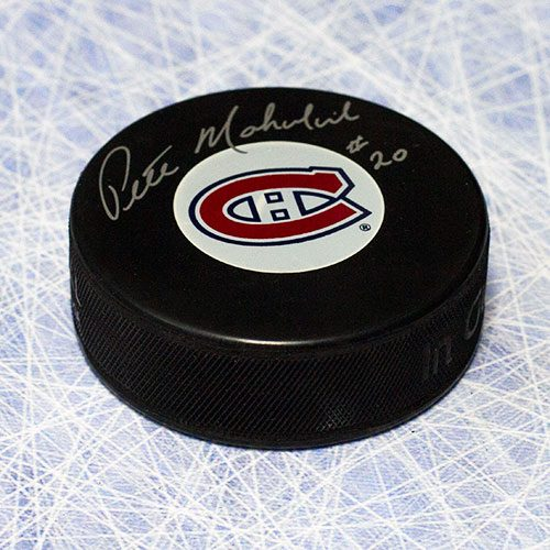 Peter Mahovlich Montreal Canadiens Signed Hockey Puck