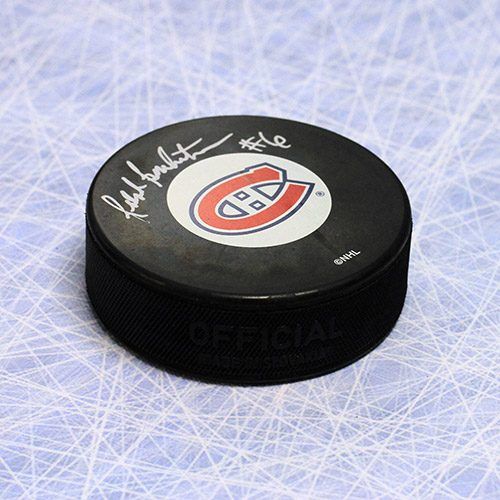 Ralph Backstrom Montreal Canadiens Autographed Hockey Puck