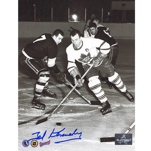 Teeder Kennedy Toronto Maple Leafs Autographed Vintage Action 8x10 Photo