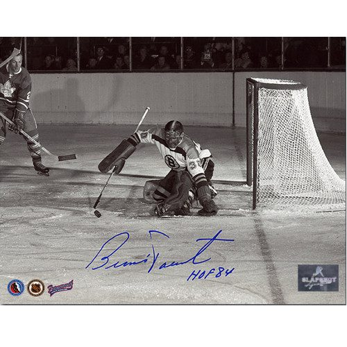 Bernie Parent Rookie Goalie Signed Photo-Boston Bruins 8x10