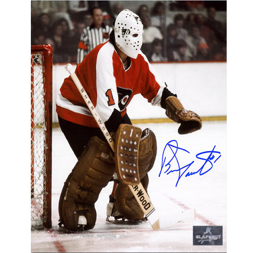 Bernie Parent Signed Photo-Philadelphia Flyers Classic Goalie 8x10